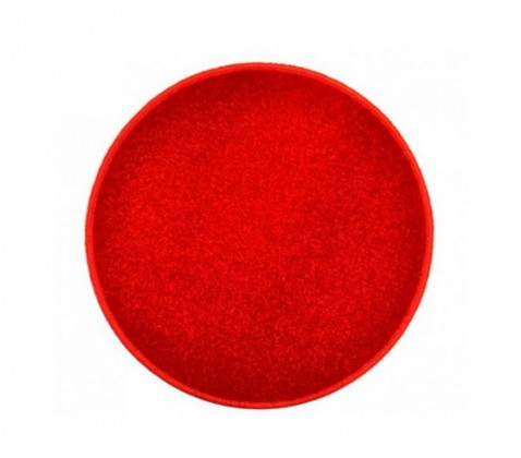 Eton - koberec, 120x120cm (100%PP, guľatý, červená)