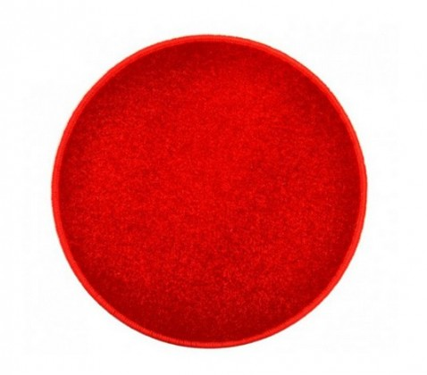 Eton - koberec, 160x160cm (100%PP, guľatý, červená)