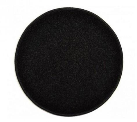Eton - koberec, 160x160cm (100%PP, guľatý, čierna)