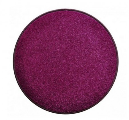 Eton - koberec, 160x160cm (100%PP, guľatý, fialová)