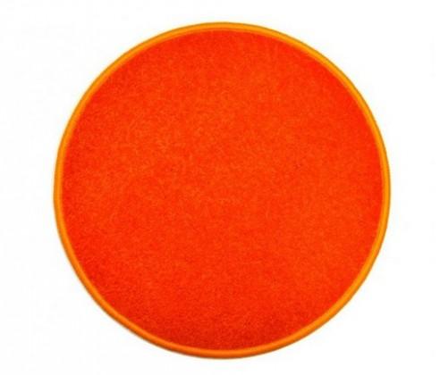 Eton - koberec, 160x160cm (100%PP, guľatý, oranžová)