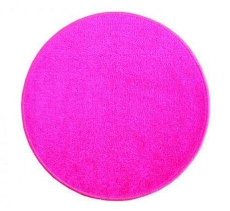 Eton - koberec, 160x160cm (100%PP, guľatý, ružová)
