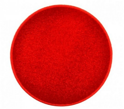 Eton - koberec, 200x200cm (100%PP, guľatý, červená)