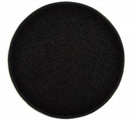 Eton - koberec, 200x200cm (100%PP, guľatý, čierna)