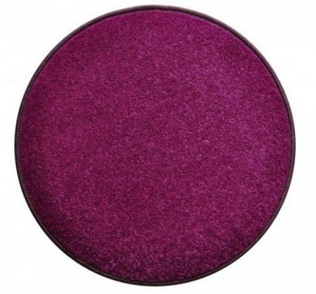 Eton - koberec, 200x200cm (100%PP, guľatý, fialová)
