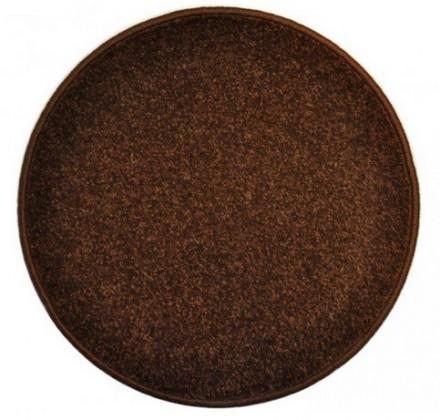 Eton - koberec, 200x200cm (100%PP, guľatý, hnedá)