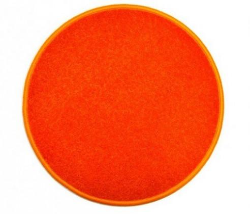 Eton - koberec, 200x200cm (100%PP, guľatý, oranžová)
