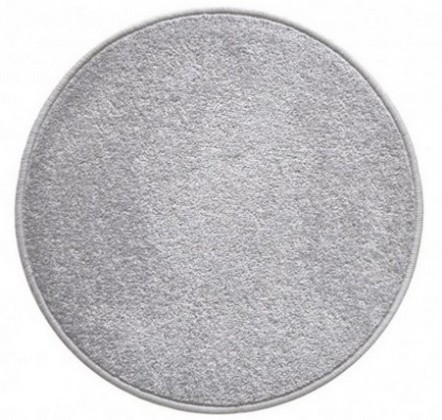 Eton - koberec, 200x200cm (100%PP, guľatý, sivá)