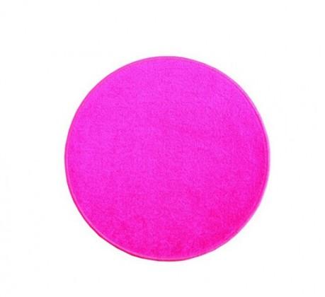 Eton - koberec, 80x80cm (100%PP, guľatý, ružová)