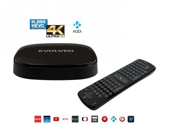 EVOLVEO Android Box Q3 4K + FlyMotion, Quad Core,podpora 4K videa