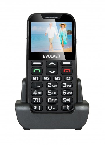 Evolveo EasyPhone XD, mobilní telefon pro seniory, čierna