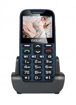 Evolveo EasyPhone XD, mobilní telefon pro seniory, modrá