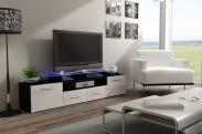 Evora - TV stolík (dekor korpusu - čierna)