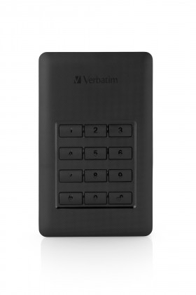 Externé HDD disky Verbatim Secure HDD 1TB USB 3.1