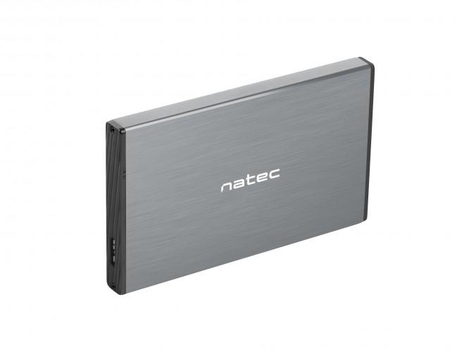 """Externý box na HDD 2,5"""" USB 3.0 Natec Rhino Go, sivý"""
