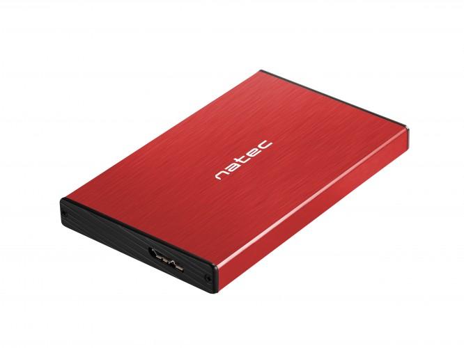 Externý box na HDD Natec Rhino Go, červený