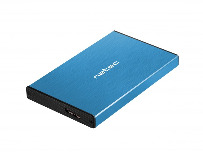 Externý box na HDD Natec Rhino Go, modrý