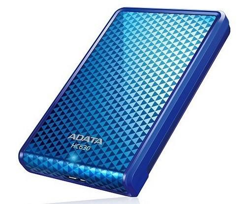 """Externý disk ADATA Externí HDD 500GB 2,5"""" USB 3.0 DashDrive Choice HC630, modr"""