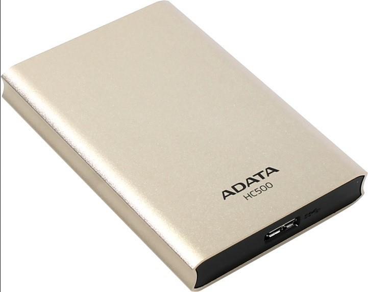 """Externý disk ADATA Externí HDD 500GB 2,5"""" USB 3.0 HC500, zlatá"""