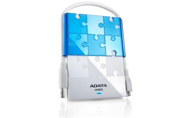 """Externý disk ADATA Externý HDD 1TB 2,5"""" USB 3.0 DashDrive HV610, biely"""