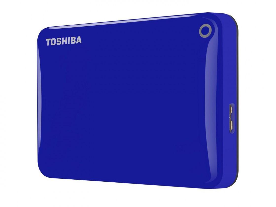 """Externý disk Toshiba HDD externí Canvio Connect II 2,5"""" 1TB, USB 3.0, modrý"""