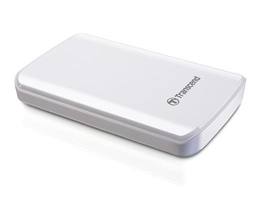 """Externý disk TRANSCEND externí HDD 2,5"""" USB 3.0 StoreJet 25D3, 1TB, White (nár"""