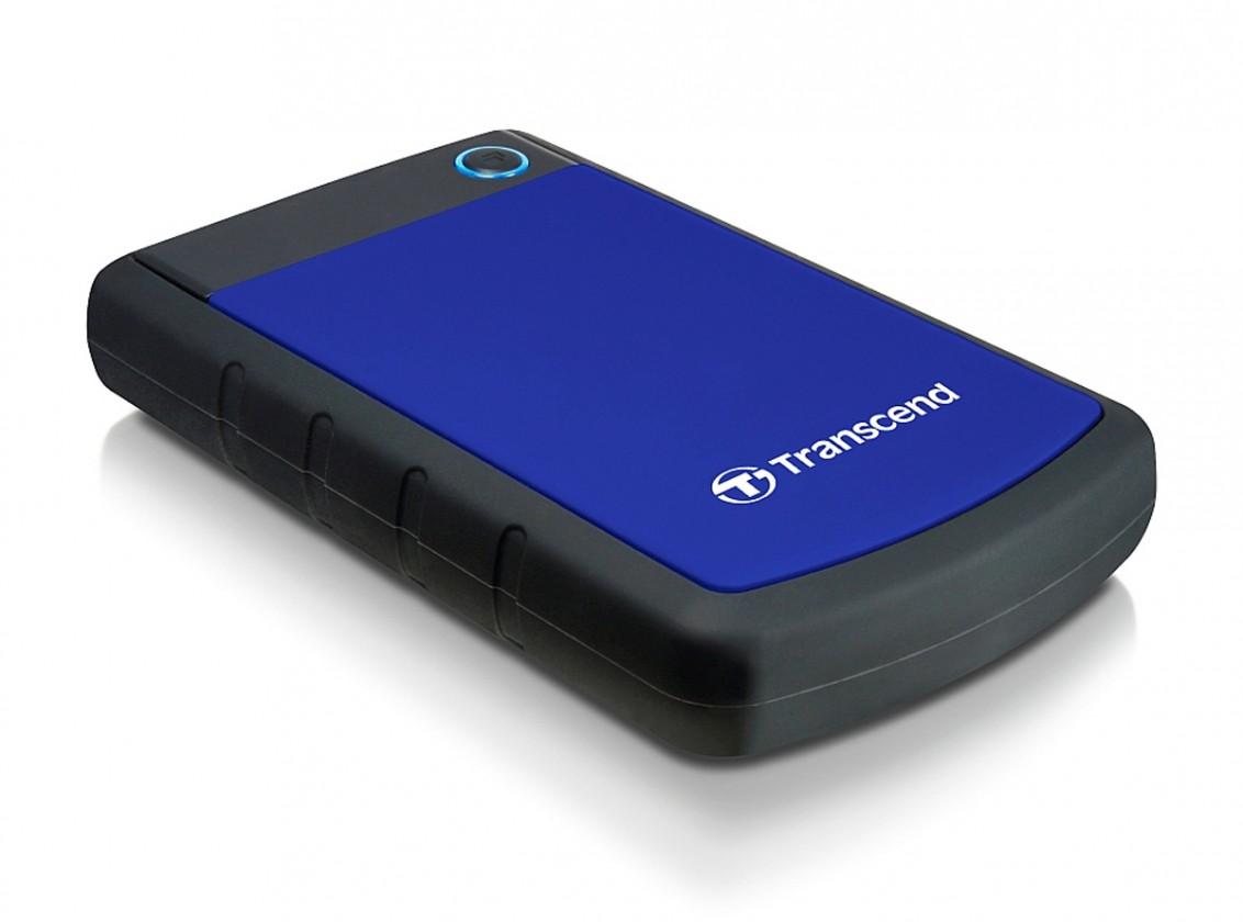 """Externý disk TRANSCEND externí HDD 2,5"""" USB 3.0 StoreJet 25H3B, 2TB, Blue (nár"""