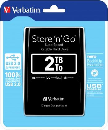 "Externý disk VERBATIM HDD 2.5"" 2TB Store 'n' Go USB 3.0, Black"