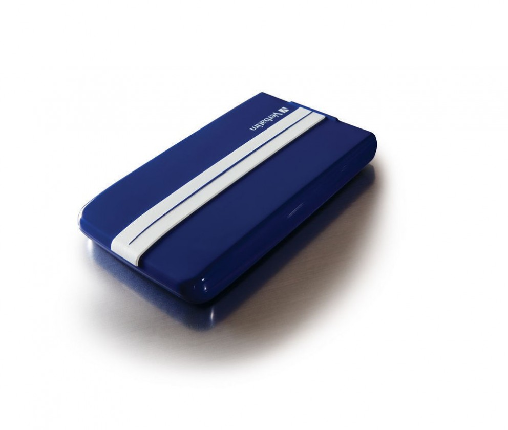 Externý disk VERBATIM HDD 2.5500GB GT SuperSpeed ##USB 3.0 modrá/biela