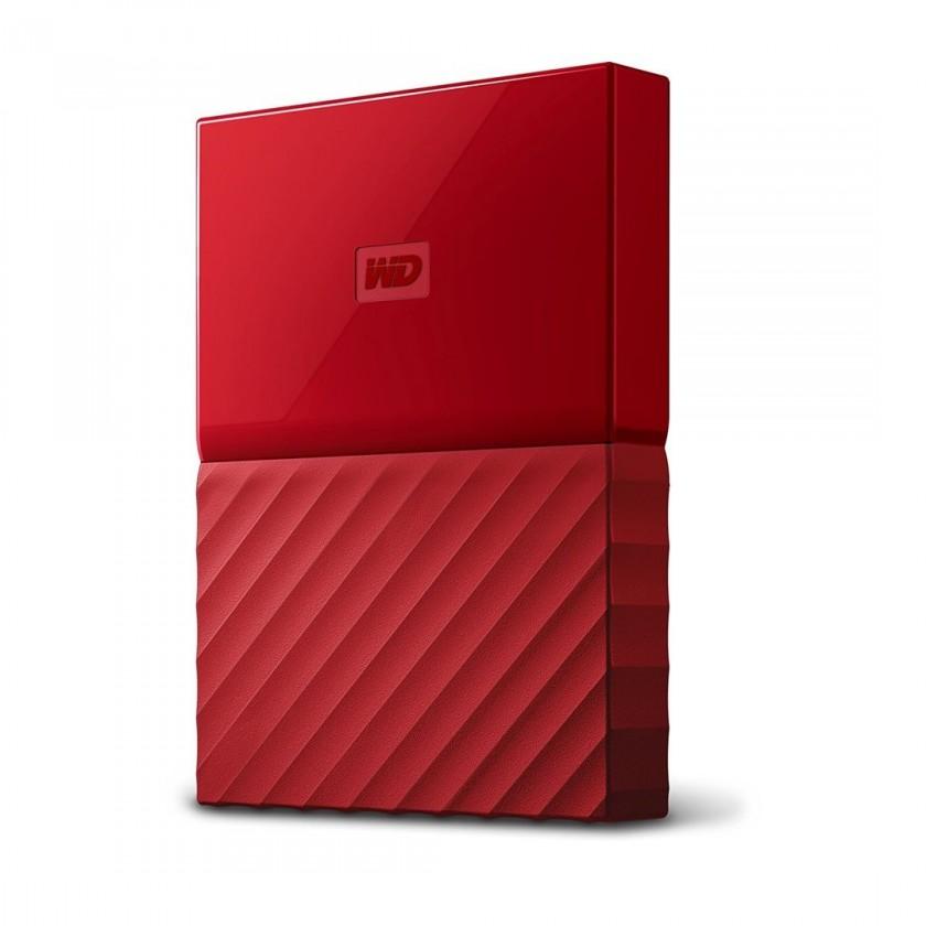 "Externý disk WD My Passport 4TB 2,5"" USB3.0, červený - WDBYFT0040BRD-WESN"