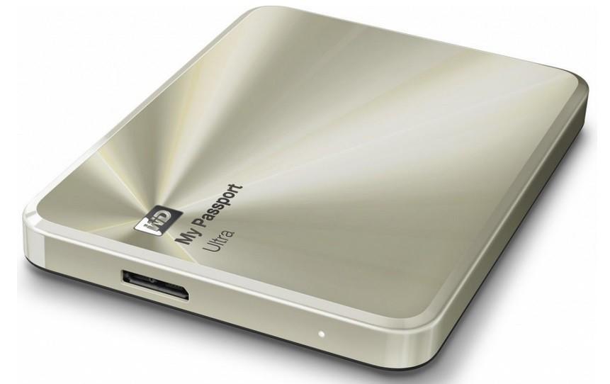 "Externý disk WD My Passport ULTRA METAL 2TB Ext. 2.5"" USB3.0, Gold"