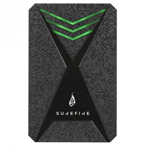Externý HDD disk Surefire GX3 Gaming, USB 3.2 Gen 1, 2TB, čierny