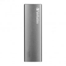 Externý SSD disk Verbatim Vx500, 480 GB, 29g, strieborná + ZADARMO USB-C Hub Olpran v hodnote 19,9 EUR