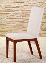 Fabrizio - Jedálenská stolička (čerešňa/eko kože krémová)