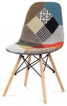 Factory - Jedálenská stolička CT-724 (patchwork/masiv buk)