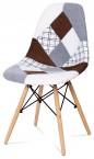 Factory - Jedálenská stolička CT-725 (patchwork/masiv buk)