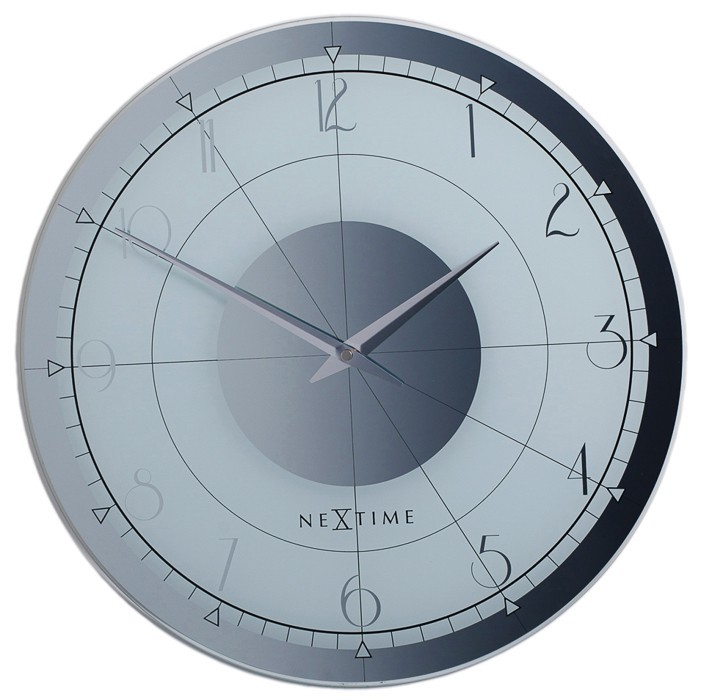 Fandy round - hodiny, nástenné, guľaté (sklo, čierne)