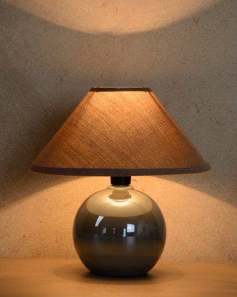 Faro - lampička, 40W, E14 (strieborná)