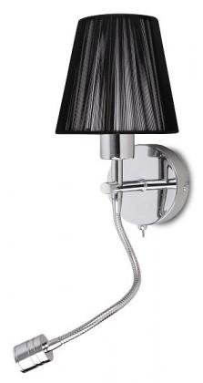 Fergie - Nástěnné osvetlenie, 2882 (chromová/čierna)