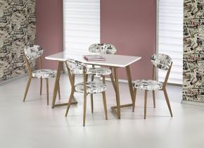 Fiero - Jedálenský stôl 120x70 cm (biela, dub medový)