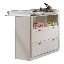 Filou - Prebaľovací pult zásuvkový (alpská biela)
