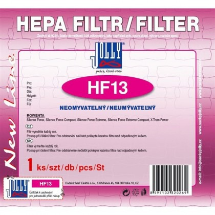 Filtre HEPA filter Jolly HF13 pre Rowenta: Silence Force, X-TREA Power