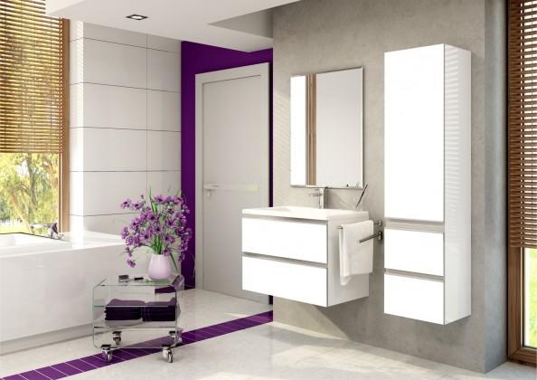 Firenze - Kúpelňová zostava (biela,boky biele)