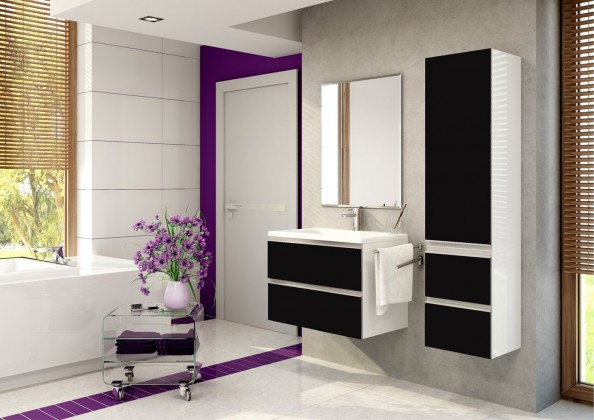 Firenze - Kúpelňová zostava (cuzco cobre,boky biele)