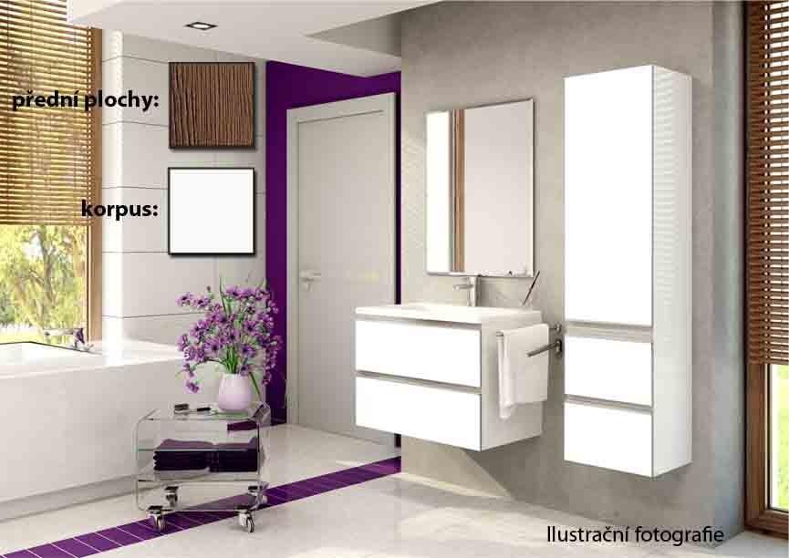 Firenze - Kúpelňová zostava (malibu avellana,boky biele)