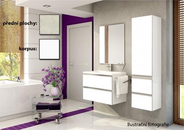 Firenze - Kúpelňová zostava (melange světlá,boky biele)