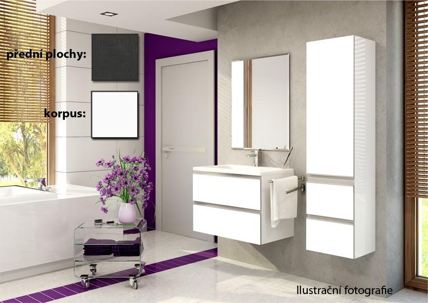 Firenze - Kúpelňová zostava (melange tm.,boky biele)