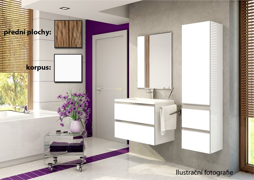 Firenze - Kúpelňová zostava (olivo,boky biele)