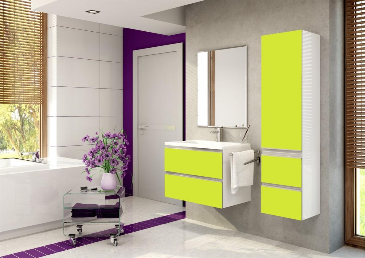 Firenze - Kúpelňová zostava (pistáciová,boky biele)