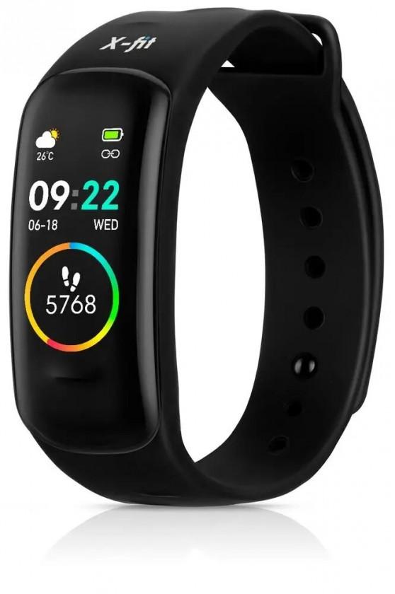 Fitness náramok Smart náramok Niceboy X-fit Plus, čierna